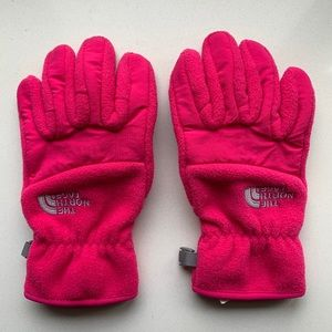 North Face Pink Girl's Gloves